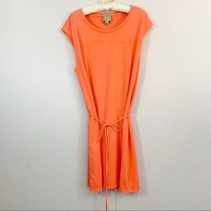 C & C California Knit Belted Sleeveless Dress